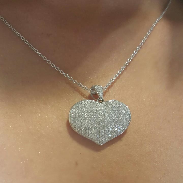 35 ct diamond pave puff heart pendant 14k white gold brickell puff heart pendant 14k white gold 20151203 932187038 mozeypictures Choice Image