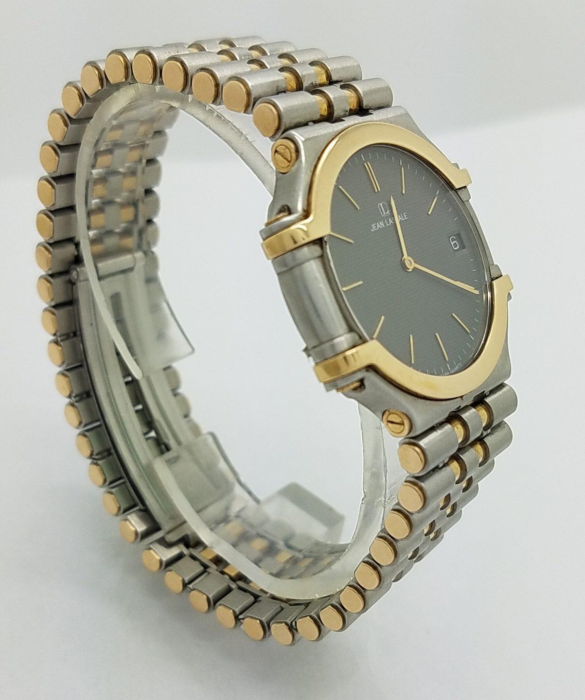 sempre popolare spedizioni mondiali gratuite sentirsi a proprio agio JEAN LASSALE 14K THALASSA YELLOW GOLD & STEEL QUARTZ WATCH Watches, Other  Preowned